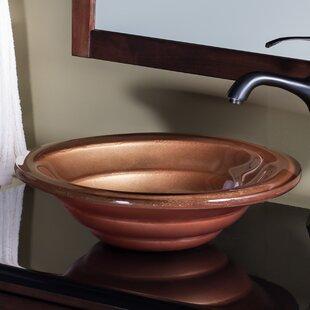 Shop for Glass Circular Vessel Bathroom Sink By Novatto