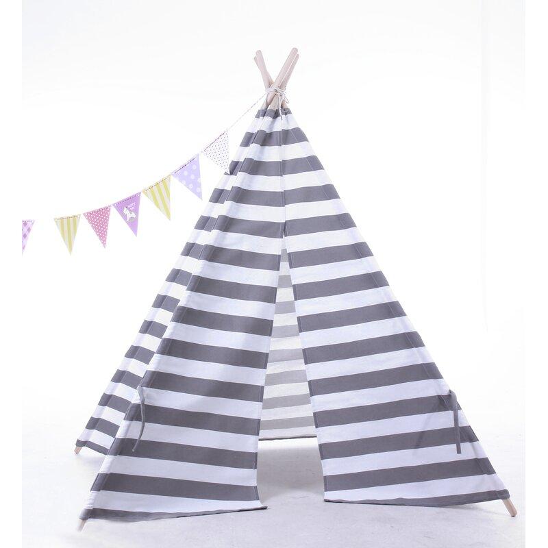 e-Joy Indoor/Outdoor Cotton Triangular Play Tent | Wayfair.ca