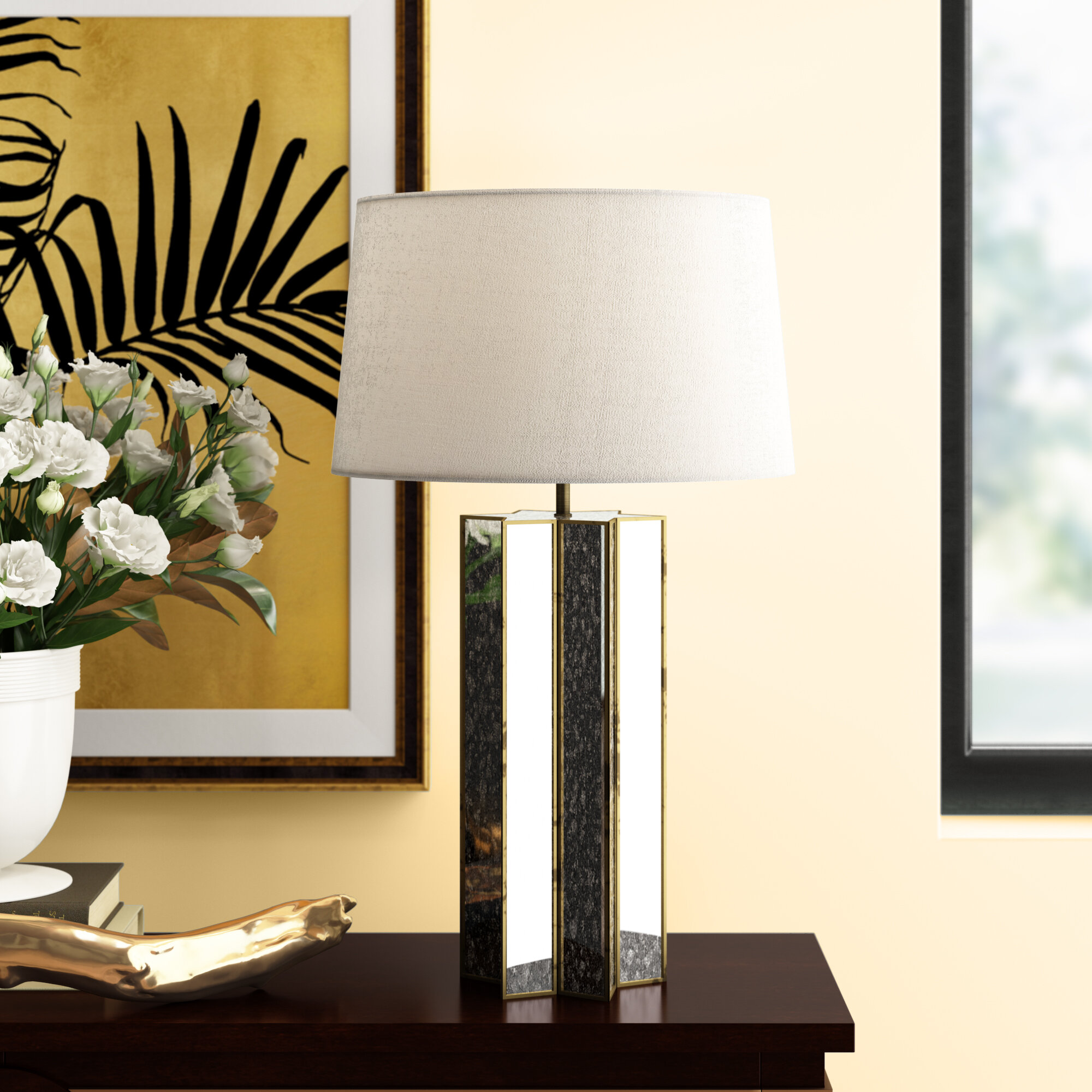 Image of: Reginaandrew Alexa Antique Mercury 29 Table Lamp Perigold