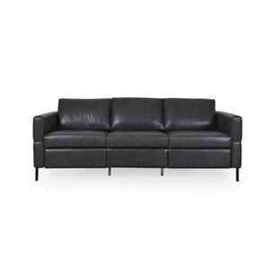 Read Reviews Bye Leather Reclining Sofa by Brayden Studio Reviews (2019) & Buyer's Guide