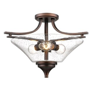 Elaina 3-Light Semi Flush Mount by Charlton Home