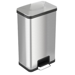 Air Step Stainless Steel 18 Gallon Step-On Trash Can