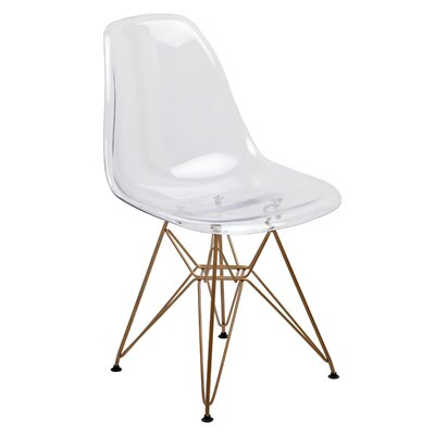 Mohnton Dining Chair Seat Color: Clear by Wade Logan