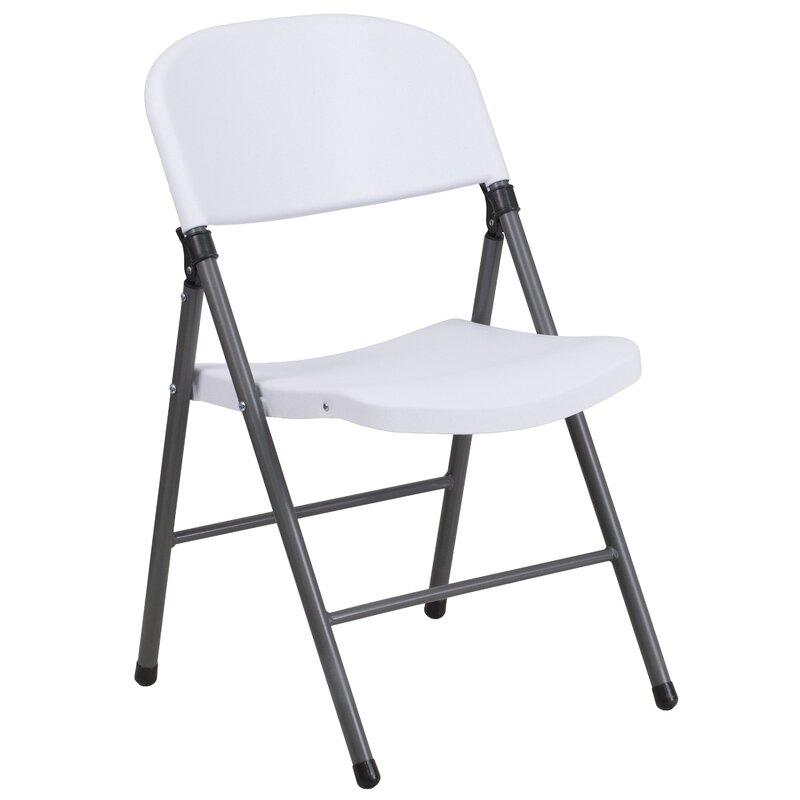 Symple Stuff Laduke Plastic Resin Folding Chair Reviews Wayfair