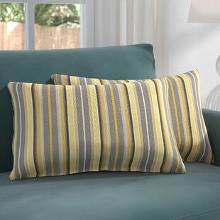 Catherine Indoor/Outdoor Sunbrella Lumbar Pillow (Set of 2)