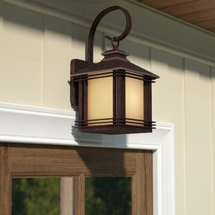 Compare prices Federal Heights 1-Light Outdoor Wall Lantern By Loon Peak