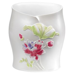 Sweet Home Collection Flower Haven Waste Basket
