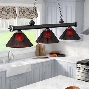 Zephyr Traditional 3-Light Steel Billiard Light by Red Barrel Studio