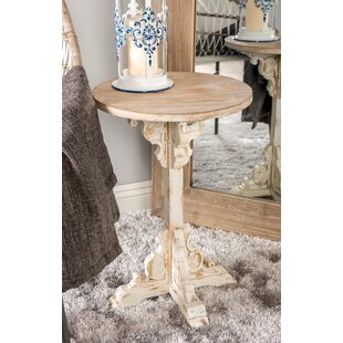 Chadwin Traditional Round Wood End Table by Ophelia & Co.