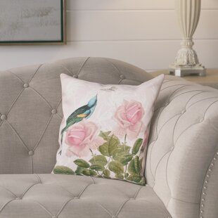 Lablanc Asian Rose Floral Print Throw Pillow