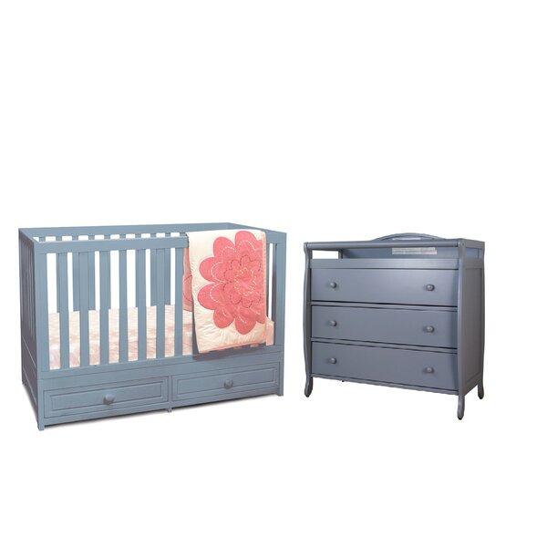 Harriet Bee Lora 3 In 1 Convertible 2 Piece Nursery Furniture Set Wayfair