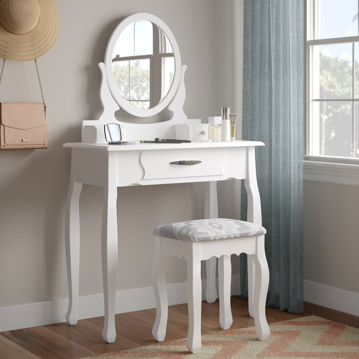 Beecroft Dressing Table Set With Mirror