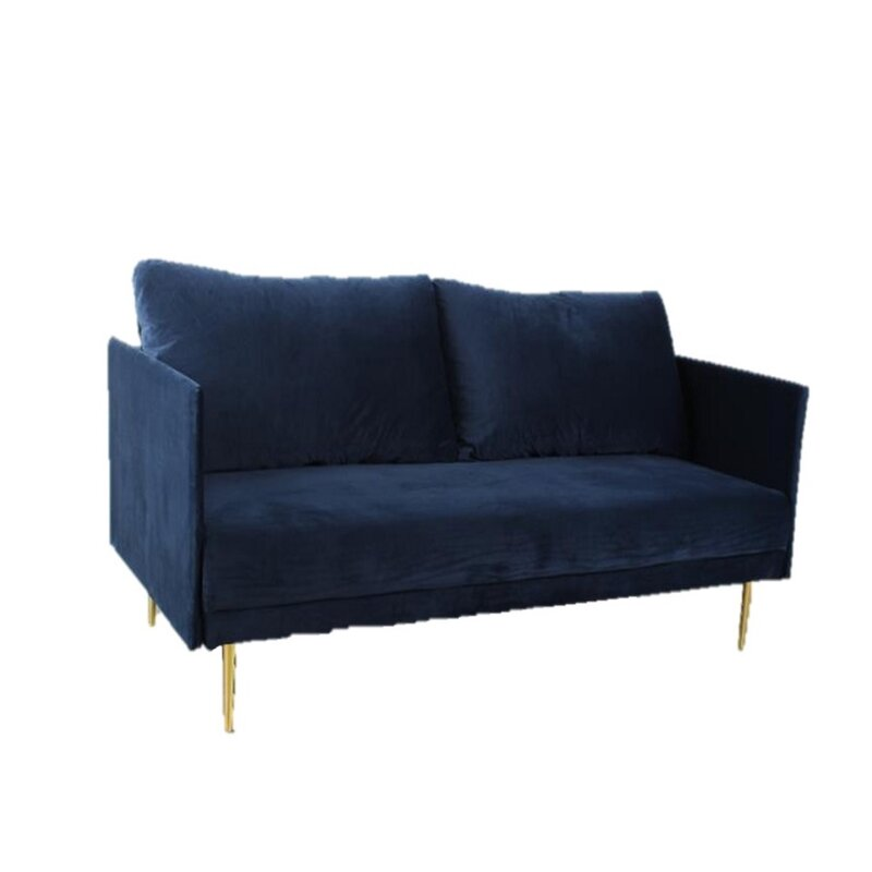 Mercer41 Kandace 76 Wide Velvet Square Arm Convertible Sofa Wayfair