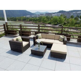 Dent 4 Piece Rattan Sofa Set with Cushions