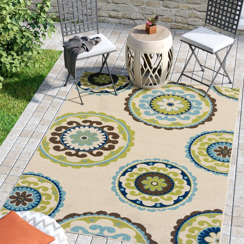 Beau Barkley Beige/Green Indoor/Outdoor Area Rug