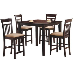 St. Brigid 5 Piece Counter Height Dining Set Red Barrel Studio