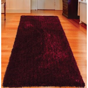 Sanford Solid Hand Tufted Violet Area Rug