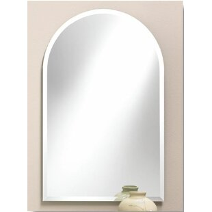 Price Check Proclus Frameless Arched Wall Mirror By Orren Ellis