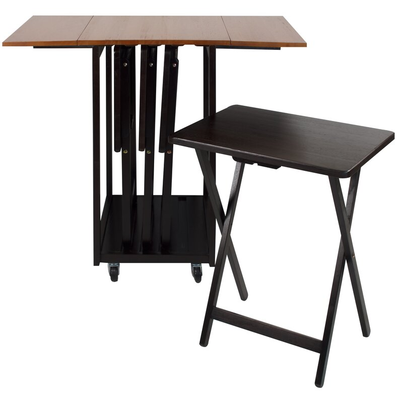 Mclachlan Drop Leaf Table with TV Tray Table Set Reviews Joss Main