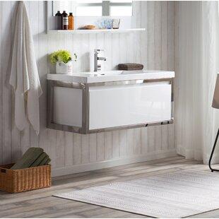 Online Reviews McCook 42 Wall-Mounted Single Bathroom Vanity Set (Set of 2) ByOrren Ellis