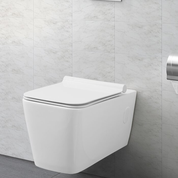 Peachy Concorde Dual Flush Elongated Wall Mount Toilet Seat Included Uwap Interior Chair Design Uwaporg