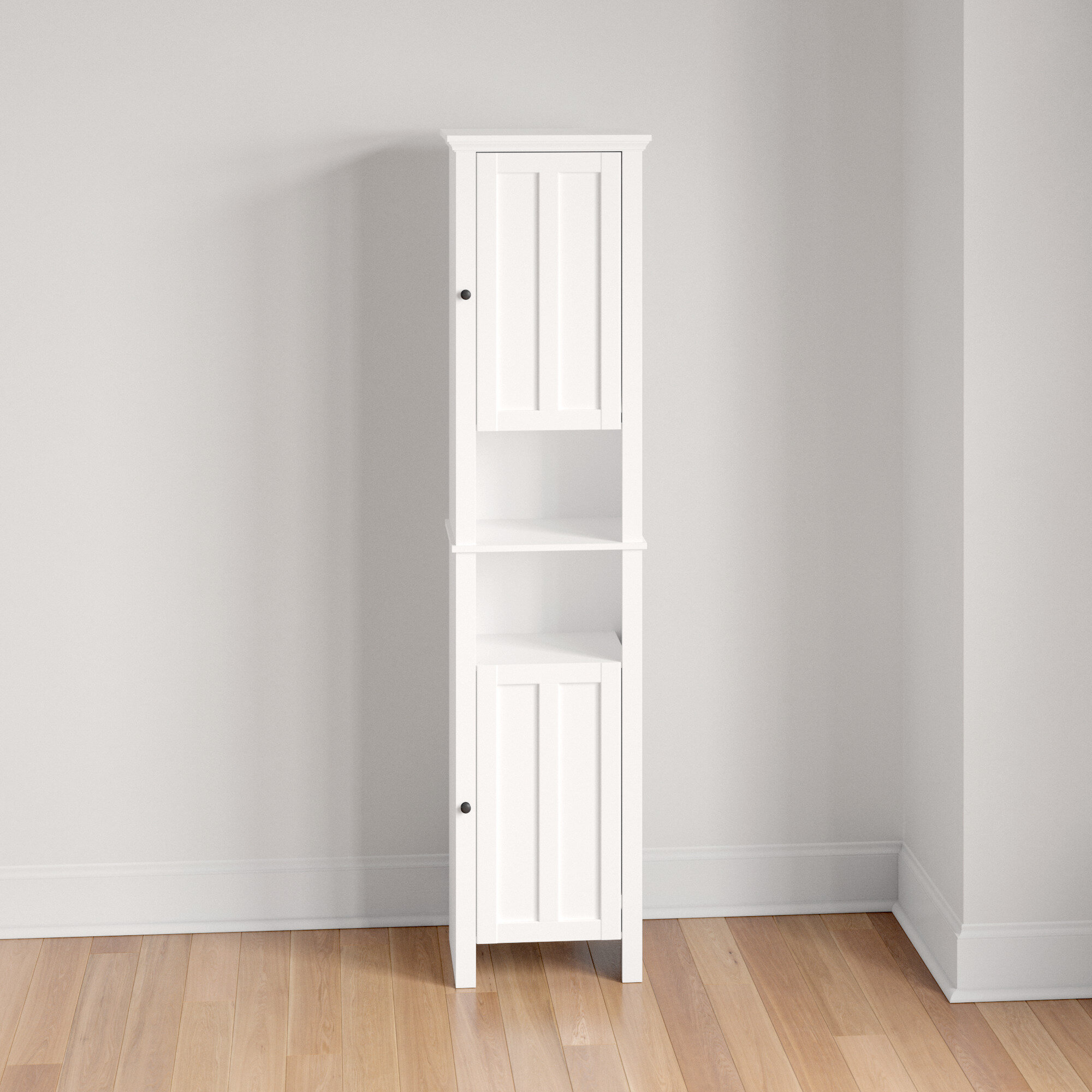 Picture of: Three Posts Thatcham 15 75 W X 66 9 H X 11 8 D Linen Cabinet Reviews