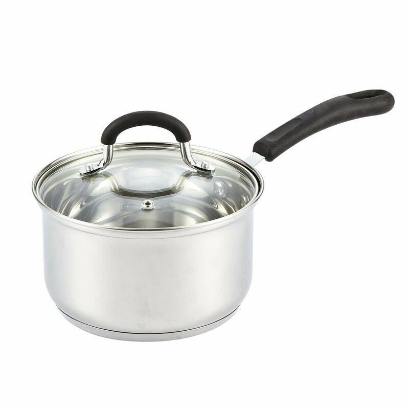 Cook N Home Stainless Steel Saucepan With Lid Reviews Wayfair
