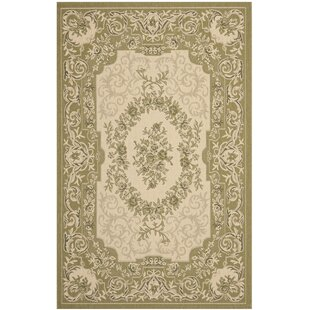 Beasley Cream/Green Indoor/Outdoor Area Rug