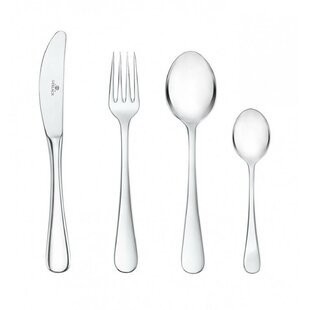 Fountain 24 Piece 18/10 Stainless Steel Flatware Set, Service for 6