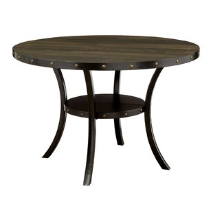 Sharlene Solid Wood Dining Table with Lower Shelf