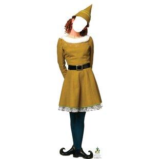 Female Elf Standin - Movie Elf Cardboard Standup By Advanced Graphics