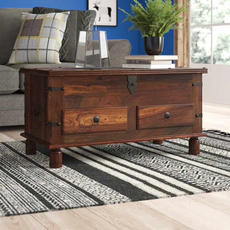 Union Rustic Coffee Table Trunk With Storage Reviews Wayfair Co Uk