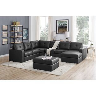 Auton 5 Seater Right Hand Facing Sectional Sofa With Ottoman by Ebern Designs