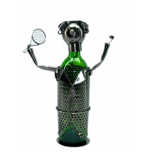 Tennis Player 1 Bottle Tabletop Wine Rack