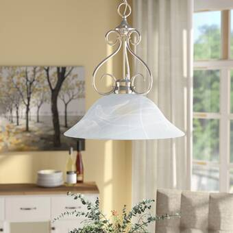 Ebern Designs Moris 1 Light Single Bell Pendant Reviews Wayfair