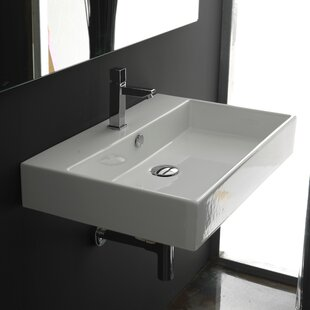 Coupon Ceramica II Unlimited Ceramic 24 Wall Mount Bathroom Sink with Overflow By WS Bath Collections