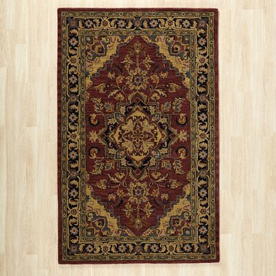 Etten Hand Tufted Wool Rust Area Rug Charlton Home Rug Size Rectangle 8 X 106