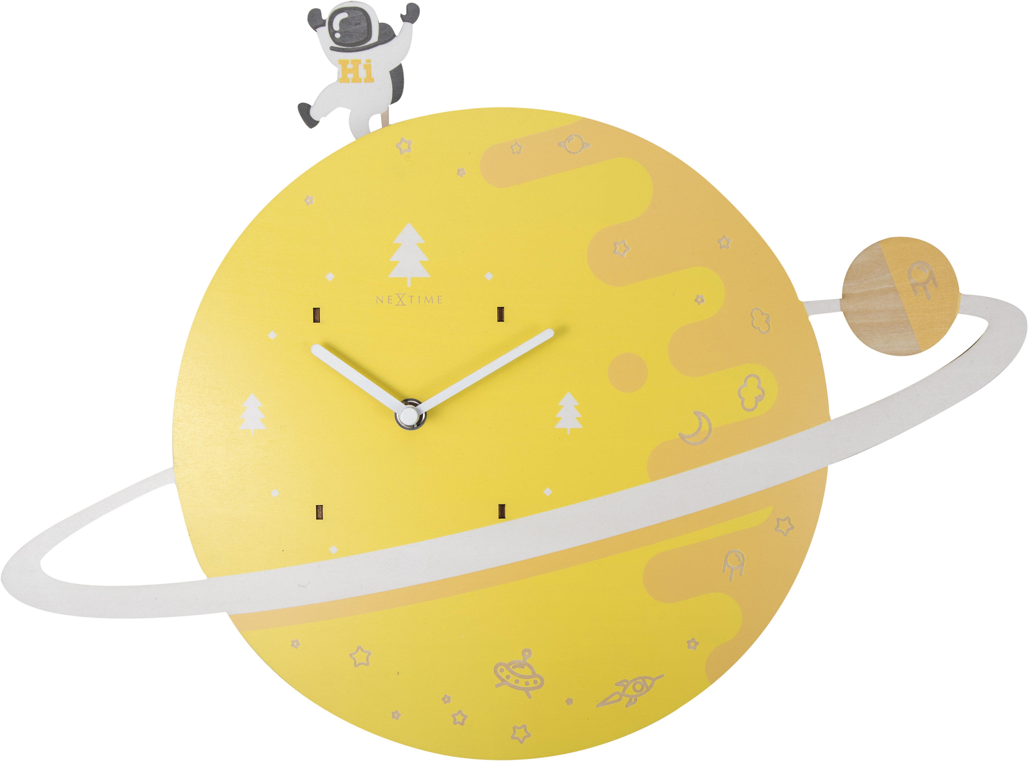 Zoomie Kids Spaceman Wood Wall Clock   Wayfair