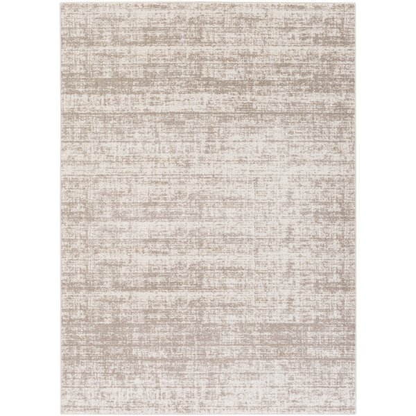 george oliver zellmer hand woven taupe ivory area rug reviews