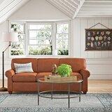 Jennifer Genuine Leather 81 Rolled Arm Sofa Bed by Wayfair Custom Upholstery™