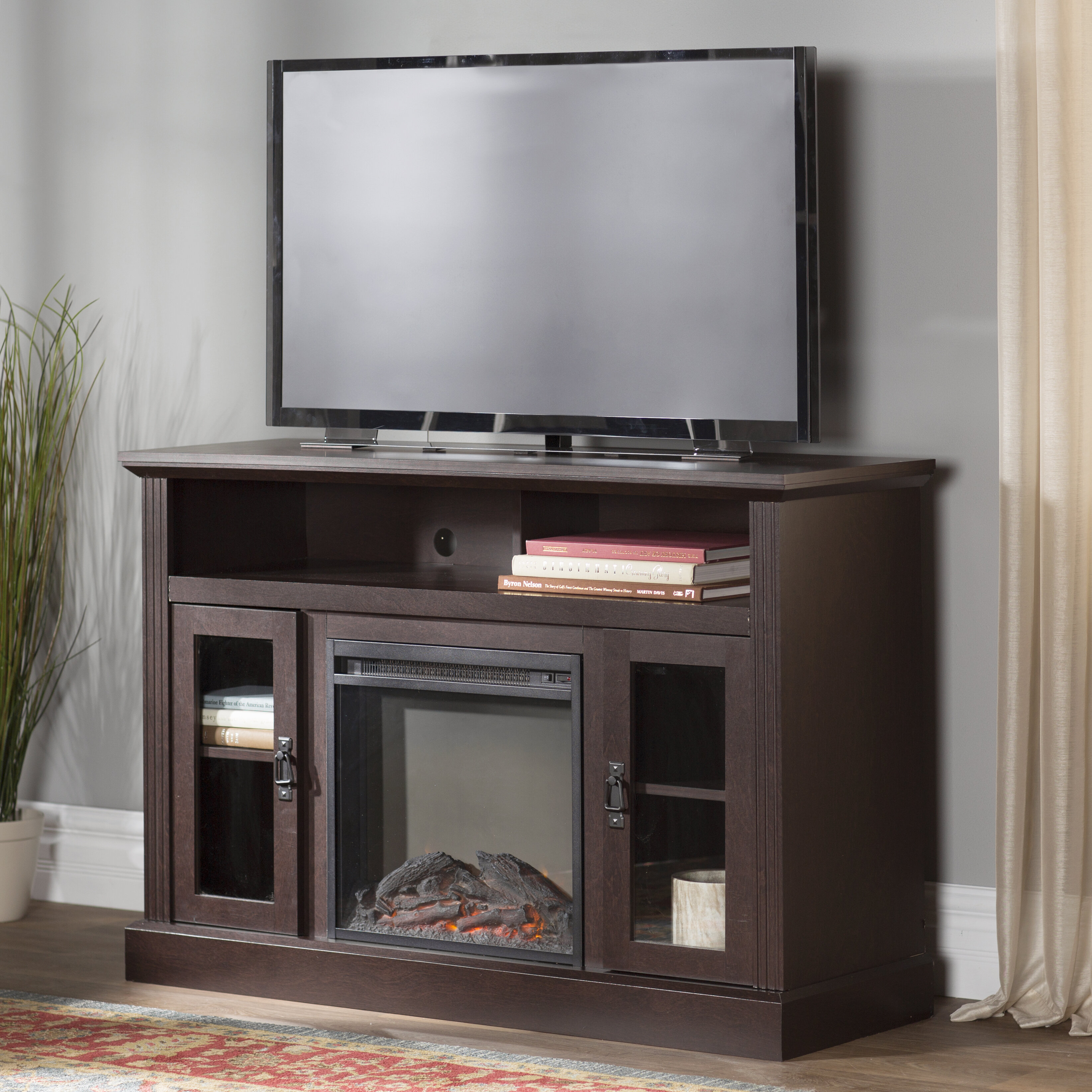 Darby Home Co Rosier 47 Quot Tv Stand With Electric Fireplace