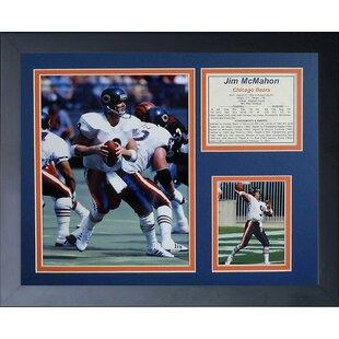 Jim McMahon Framed Memorabilia By Legends Never Die