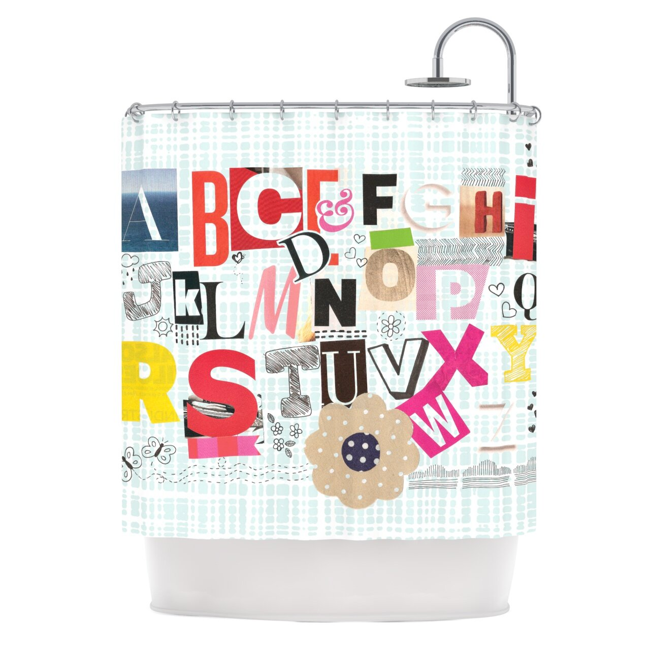 East Urban Home Abc Shower Curtain
