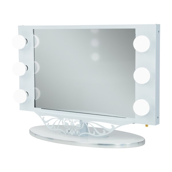 Vanity girl hollywood starlet lighted bathroomvanity mirror vanity girl hollywood starlet lighted bathroomvanity mirror reviews wayfair aloadofball Image collections