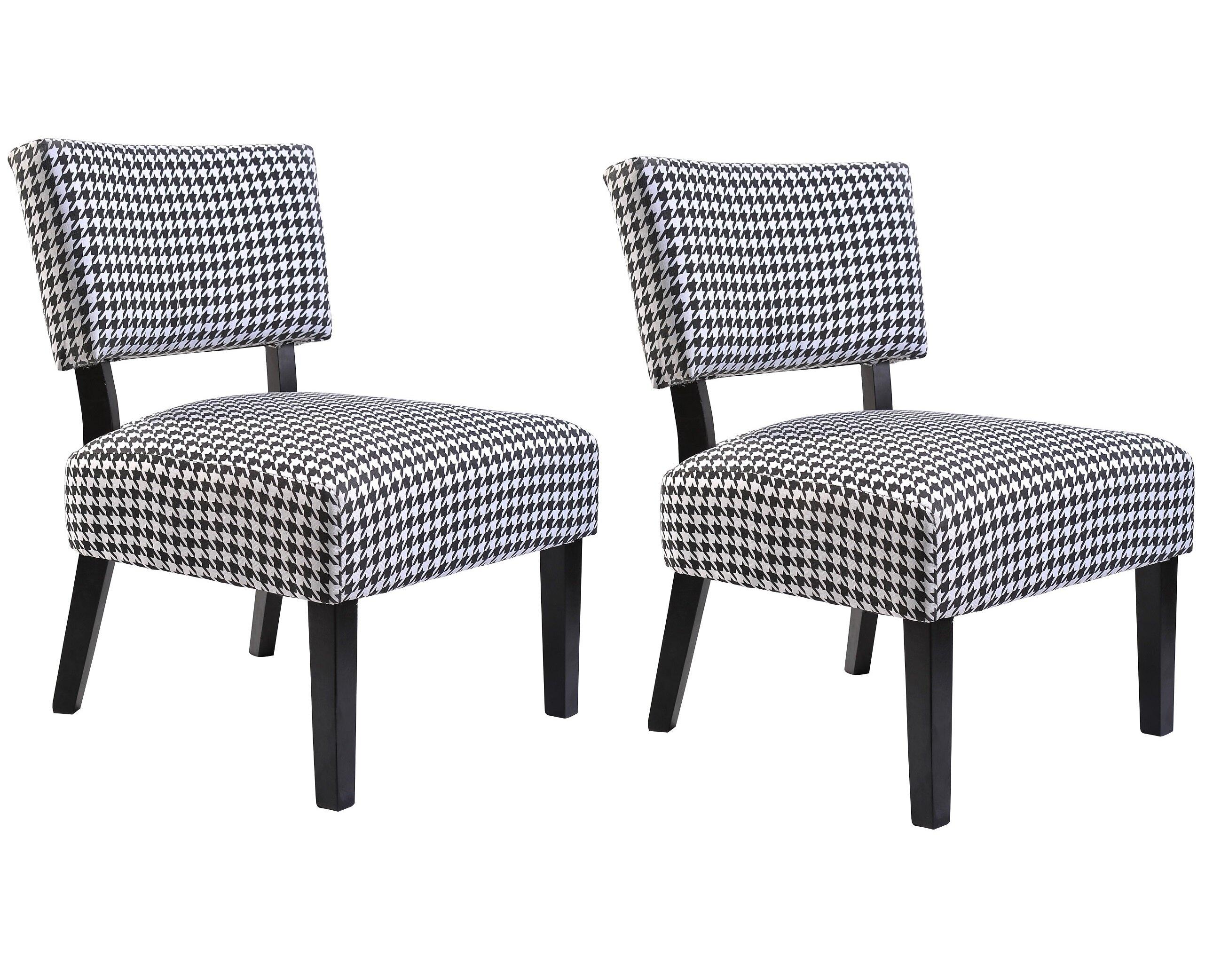 Ebern Designs Billie Linen Upholstered Side Chair In Black Wayfair
