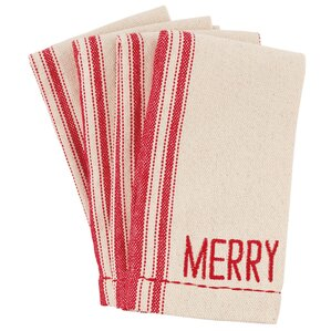 holiday grainsack napkin set of 8