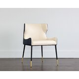 Davie Upholstered Wingback Parsons Chair by Everly Quinn