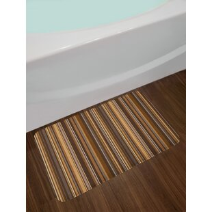 Vertical Lines Abstract Bath Rug
