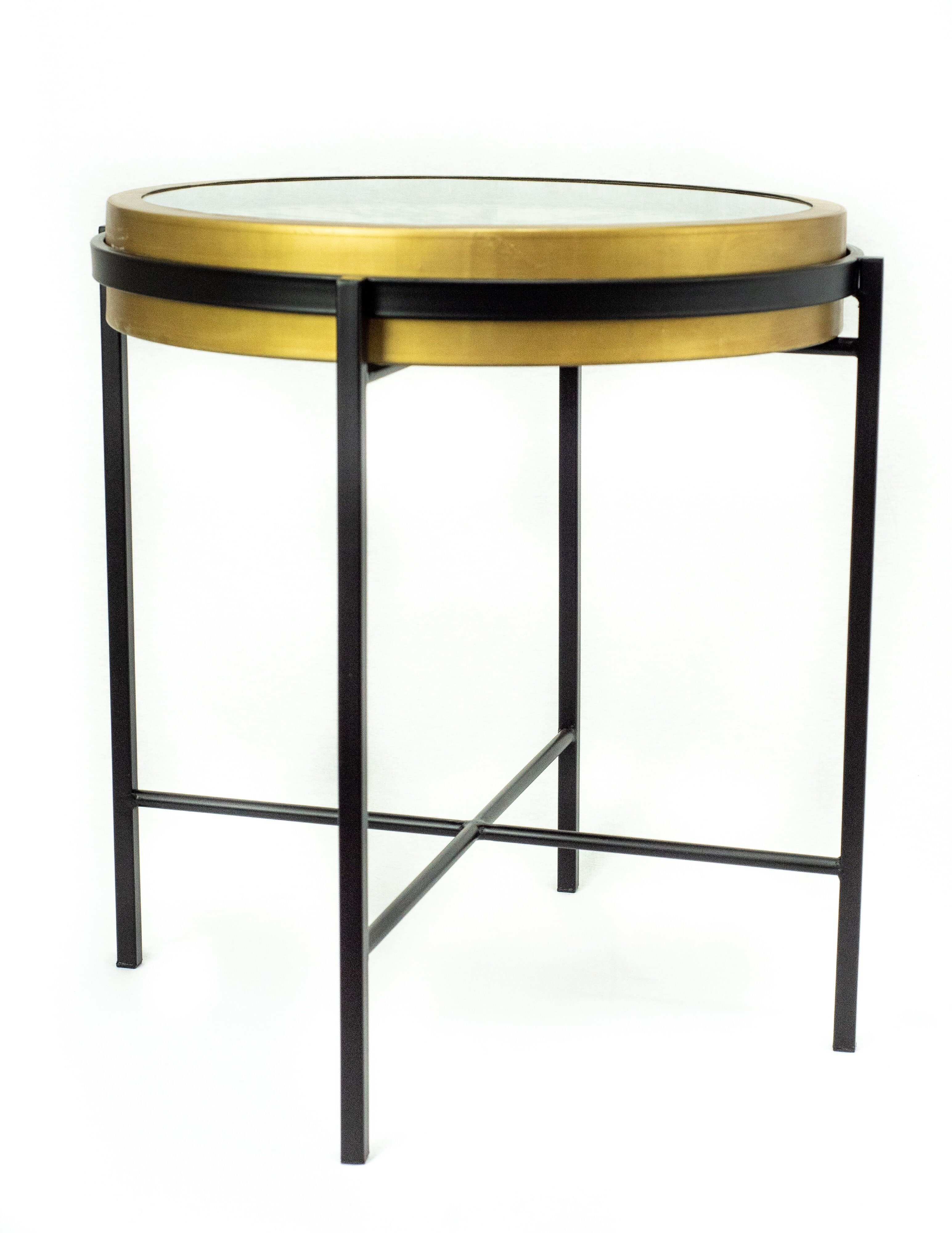 Atouchofdesign Liverpool Glass Top End Table Wayfair