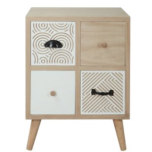 Burnette 4 Drawer Bedside Table By Bloomsbury Market